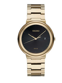 Seiko Men's ' Quartz Stainless Steel Dress Watch, Color:Gold-Toned (Model: SNE482)