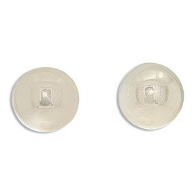 14K White Gold Button Post Back Earrings