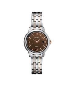 Seiko Women's 'LADIES' Quartz Stainless Steel Dress Watch, Color:Silver-Toned (Model: SUT349)