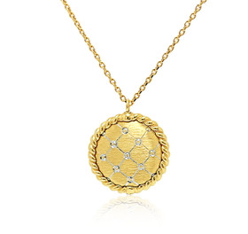 14k White And Yellow Gold  Circle Necklace  30003109