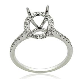 18K White Gold Diamond Engagement Ring Settings 11005890