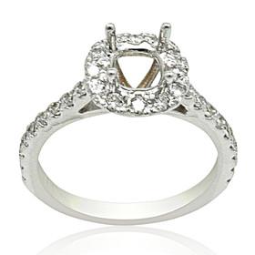 18K White Gold Diamond Engagement Ring Settings 11005905