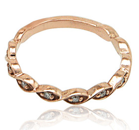 14K Pink Gold Diamond Stackable Ring 11005915