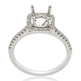 Platinum Diamond Engagement Ring Halo Setting  11005912