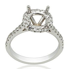 18K White Gold Diamond Halo Setting  110059086