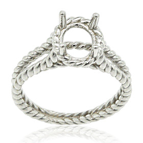 14k White Gold Engagement Ring Oval Settings 10017318