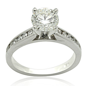 14K White Gold 1 carat Diamond Engagement Ring 11005736
