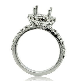 18K White Gold Diamond Engagement Ring Setting 11005943