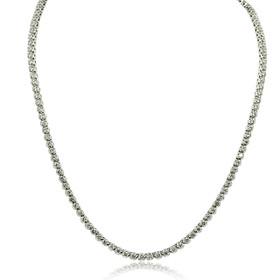 14K White Gold 4.92 Carat Diamond Tennis Necklace