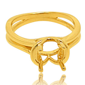 14K Yellow Gold Ring Setting 10017335