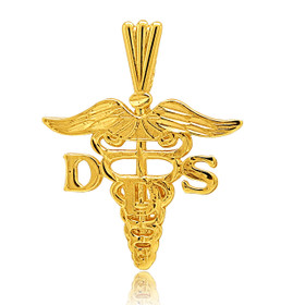 14K Yellow Gold DDS (Doctor of Dental Surgery) Charm