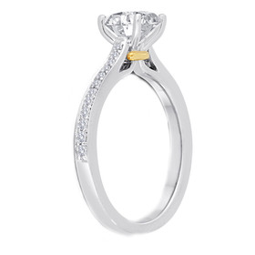 14K White and Yellow Gold Diamond Engagement Ring Setting 11005965