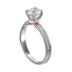 14K White and Rose Gold Diamond Engagement Ring Setting 11005964