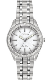Citizen Women's Eco-Drive Stainless Steel Watch with Diamond Accents, EM0240-56A