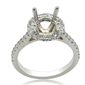 14K White Gold Diamond Engagement Ring Setting 11005946
