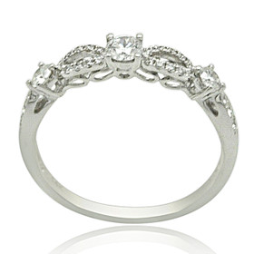 14K White Gold Diamond Fancy Band 11005966