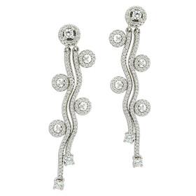 Sterling Silver CZ Post Drop Earrings 84010558