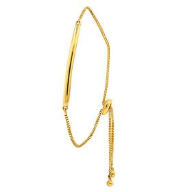 10K Yellow Gold Adjustable Bar Bracelet