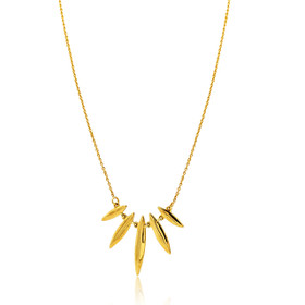 "10K Yellow Gold 18"" Fancy Drop Necklace"
