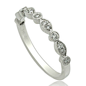 14K White Gold 0.20 carat Diamond Wedding Band