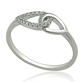 14K White Gold Diamond Designer Ring