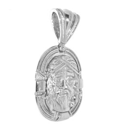 Stainless Steel Christ Heart Charm 15010166