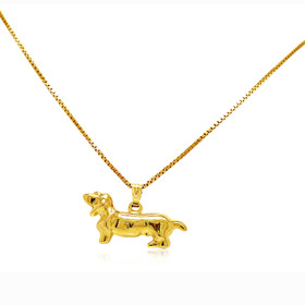 14K Yellow Gold Daschund Dog Charm 50003292