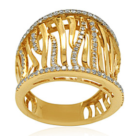 14K Yellow Gold Diamond Fancy Ring