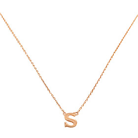 "14K Rose Gold  ""S"" Initial Necklace 30002859"