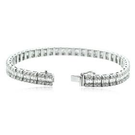 18K White Gold  6.67 carat Diamond Tennis Bracelet 21000638
