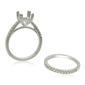 18K White Gold Diamond Engagement Ring Settings 11005992