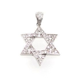 Sterling Silver Cubic Zirconia Star Charm