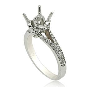 18K White Gold Diamond Engagement Ring Setting 11005935