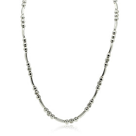 "14K White Gold 16"" Diamond Necklace"