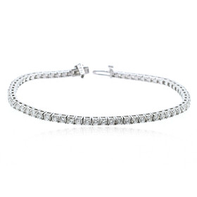 14K White Gold  7 Carat Diamond Tennis Bracelet 21000643