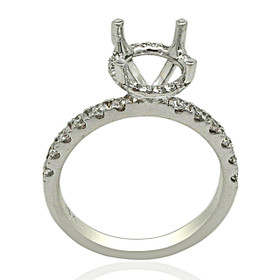 18K White Gold Diamond Engagement Ring Setting 11005984