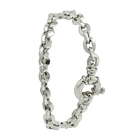 18K White Gold Open Link Bracelet 20001562