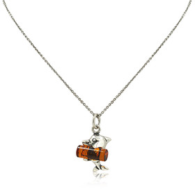 Sterling Silver Amber Charm 85201956