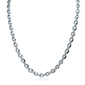 18K White Gold Fancy Links Necklace