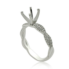 18K White Gold Diamond Engagement Ring Setting 11006043