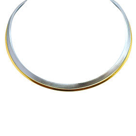 14K White and Yellow Gold Fancy choker Necklace