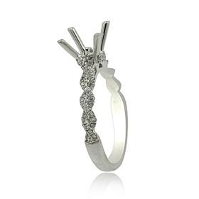 18K White Gold Diamond Engagement Ring Setting 11006042