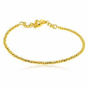 14K Yellow Gold D/C Beads Bangle 20001469