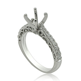 18K White Gold Diamond Engagement Ring Setting 11006044
