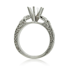 18K White Gold Diamond Engagement Ring Settings 11006034