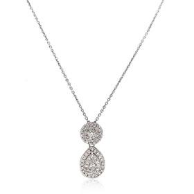"14K White Gold 0.60 Carat 18"" Diamond Necklace"
