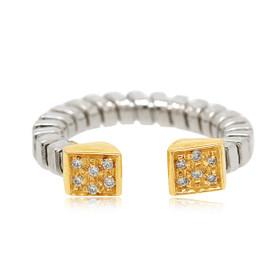 18K Two Tone Gold Fancy Diamond Ring 11006031