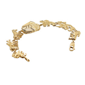14K Yellow Gold Noah Ark Flexible Bracelet 20001589