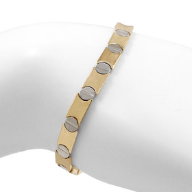 14K White And Yellow Gold With Screw Design Fancy Bracelet 20001591