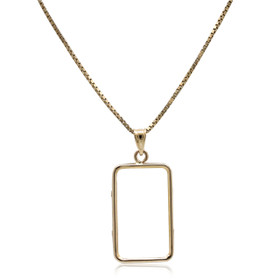 14K Yellow Gold Bar Holder Charm 50003437